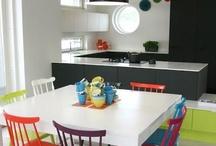 Living, dinner & kitchen