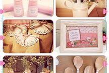 Meu chá de cozinha by Giu / By Giu Fortino Cores: rosa claro e branco Chá de cozinha romântico