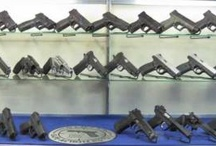For Gun Shops / Gun displaying solutions for gun shops...  Display guns with Kikstands and Clipstands to increase visibility to customers. Prominently display your company's logo and price tag with Snaps, which attach easily onto the front of the gun display stand.  GSS wall display gun hangers, Gun Cradles and Slatwall Snipers, are a great solution for any gun shop or vault room.