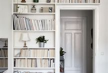 Bookshelves wall | home