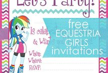 Mini Me's 4th Birthday / An Equestria Girl Themed Birthday party for a 4 year old girl.