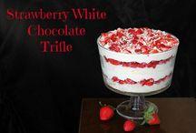 Desserts strawberry truffle