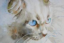 Gatos ilustração arte / Arte