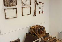 Installation works sculptur textile wax found objects
