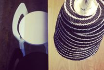 KIELO is a fair lampshade. / Mum's lampshade collection in handmade. Material is telephone wire.