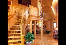 Staircases | Strongwood Log & Timber Homes