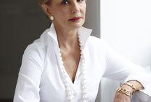 White Button  Down - like Carolina Herrera Style