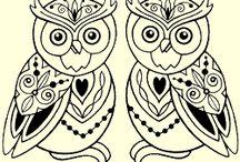 Owl stamp set & cards