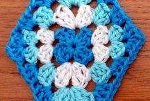 "crochet diamond  shaped ""squares"""