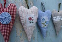 fabric hearts and stars