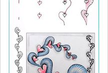 Zentangle (heart Patterns)