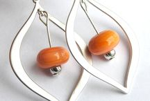 Glass Beaded Earrings Etsy Jewelry / Sterling silver earrings. Modern designs featuring glass beads made by Meagan Steinberg. Each glass bead is made using a torch and kiln.