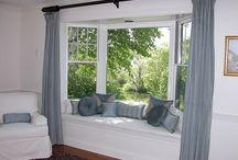 bay window curtain