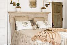 Beds & Bedding / Elegant bedrooms, cozy bedrooms, welcoming bedrooms, rustic bedrooms, upholstered headboards