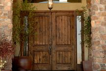 rustic double front doors