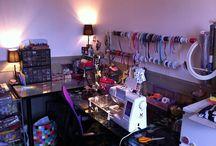 Atelier Pauline.R / L'envers du décor ! Préparations des créations, motifs, tissus, couleurs à l'atelier