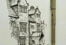 Tegning av hus