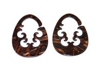 Italian Rhodoid - Large Gauge Earrings