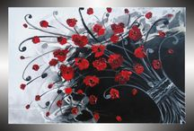 Red and black decor / by Ellen Mcmartin Peters