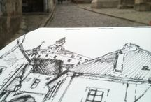 My Urban Sketches / My works which follow rules of Urban Sketchers.