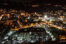 Strade di notte / Immagini notturne di Valdagno