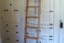 8 Clever Ways To Use A Rolling Libary Ladder - All Over The House / Time to go above &beyond library walls. The classic rolling library ladder evokes images of majestic libraries, full of epic bookshelves, and maybe Belle sing-songing about escaping her provincial life. But they can be used for a variety of purposes – from straight utilitarian practicality, or adding a unique sense of design and room architecture. Here's how a rolling ladder could be just right: http://blog.cshardware.com/4551/8-clever-ways-to-use-a-rolling-library-ladder-all-over-the-house/