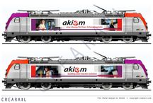 My work: Akiem 187 014 / Images of the Akiem locomotive no. 187 014 with branding by Crearail.com