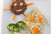 Alimentação / Receitas para crianças, com uma decoração infantil iressistivel.