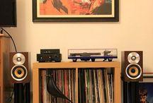 Scaffale dei dischi
