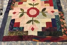 My log cabin with patchwork