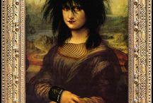 Moaning Lisas & Funny Arts / Moaning Lisas & Comedy Art - Czar Catstick, BigFatArts.com Leonardo da Vinci - Artist - Mona Lisa - Renaissance Art