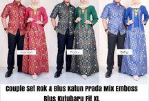Baju Batik Couple Gamis