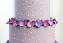 Purple and Mauve Wedding Cakes
