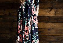 Long floral dresses