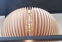 Wooden lamp shades
