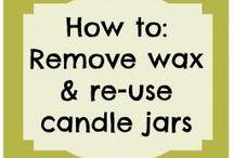 Reused candle jars