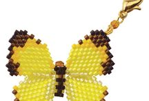 Beaded butterflies