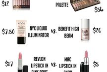 Drug store make up dupes