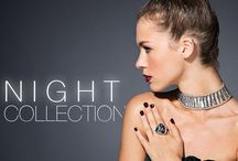Jewels for endless nights / NIGHT COLLECTION. Let the magic and glamour of this sophisticated, bold, and rebellious collection dominate your look. Stars, spikes, pearls and Swarovski crystals are the headliners of this ultra glam line, so you can enjoy the night your way.