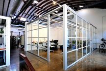 creative partitions / partitions that enhance the concept of open office