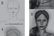 rajz lépések