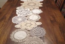 Upcycled vintage doilies