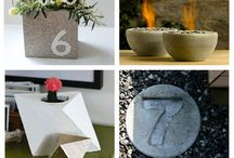 Cement and Crafts / Being creative on a budget