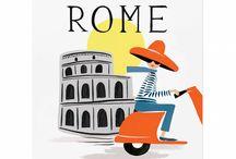 Rome illustrations