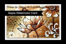 Watercolor card with bleach