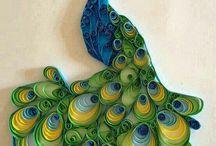 Toilet paper rolls: peacock