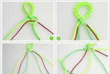 Macrame bracelets tutorials