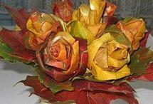 ruže  z listů