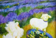 Lavender painting