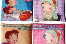 BUKU BANTAL  / Buku Bantal atau BUKBAN ini adalah sebuah buku untuk anak-anak yang terbuat dari bahan kain. BukBan memiliki gambar di halamannya untuk menjadi ajang belajar dengan cara yang lebih menarik bagi anak-anak. ^o^